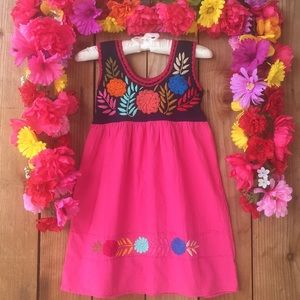 Other - Mexican hand embroidered dress size 4 Years old